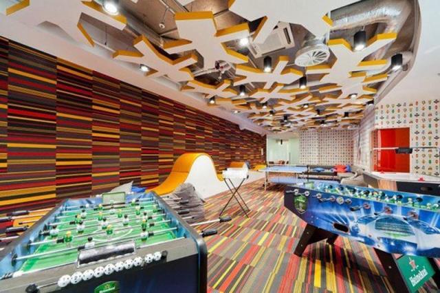 O design dos escritórios corporativos Alfa são incríveis!