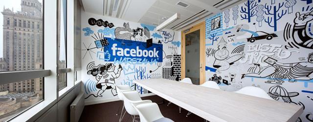 Sala de reunião do escritório Facebook