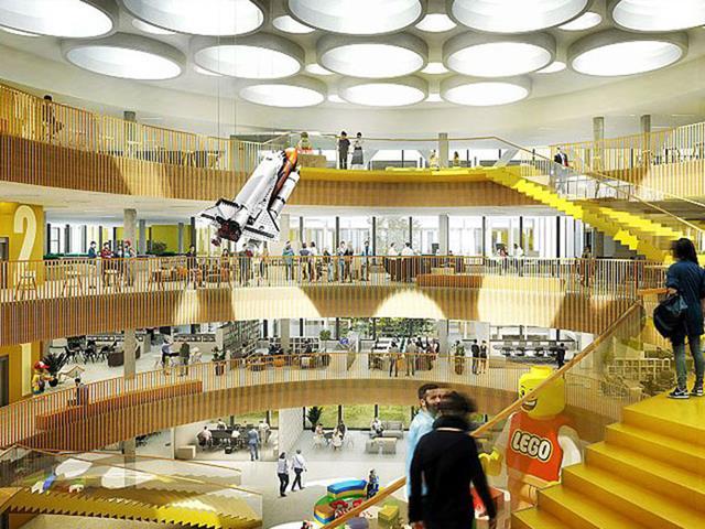 Impressionante esse escritório da Lego
