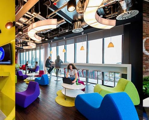 Sensacionais escritórios do Google