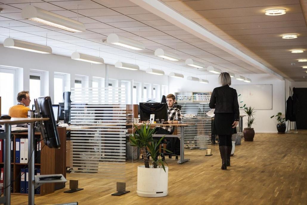 Locais de trabalho com iluminação natural otimizam o aprendizado e o foco.