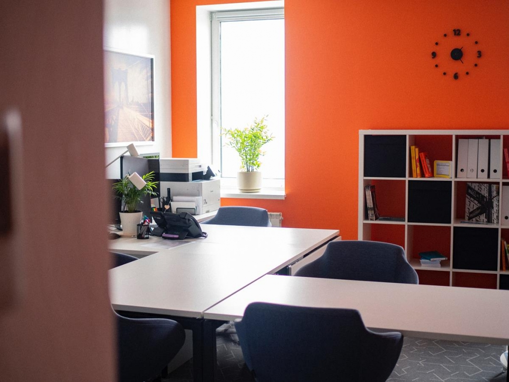 As cores estimulam sensações e incentivam para o aumento da produtividade.